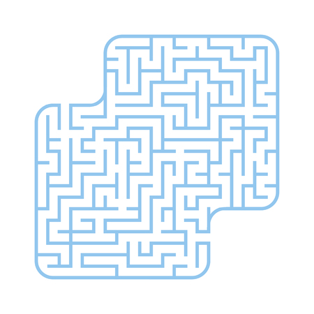 Colored square labyrinth. Game for kids. Puzzle for children. Maze conundrum. Flat vector illustration isolated on white background. With place for your image 向量圖像