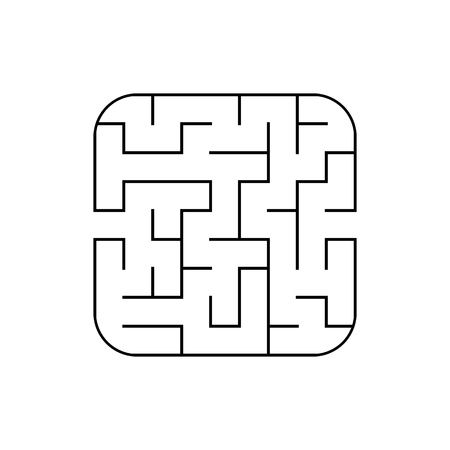 Abstract square maze. Game for kids. Puzzle for children. Labyrinth conundrum. Flat vector illustration isolated on white background 向量圖像