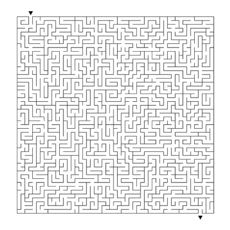Abstract labyrinth. Game for kids. Puzzle for children. Maze conundrum. Vector illustration Vektorové ilustrace