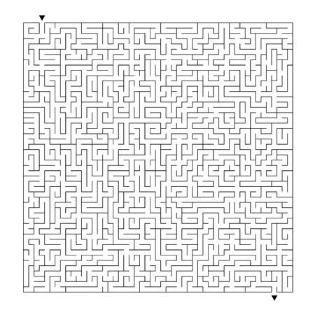 Laberinto abstracto. Juego para niños. Puzzle para niños. Enigma del laberinto. Ilustración vectorial Ilustración de vector