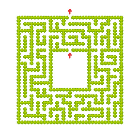 Abstract maze. Game for kids. Puzzle for children. Cartoon style. Labyrinth conundrum. Color vector illustration. The development of logical and spatial thinking Stock Vector - 124821078