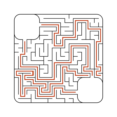 Abstact labyrinth. Game for kids. Puzzle for children. Maze conundrum. Vector illustration,