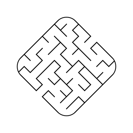 Easy maze. Game for kids. Puzzle for children. Labyrinth conundrum. Vector illustration