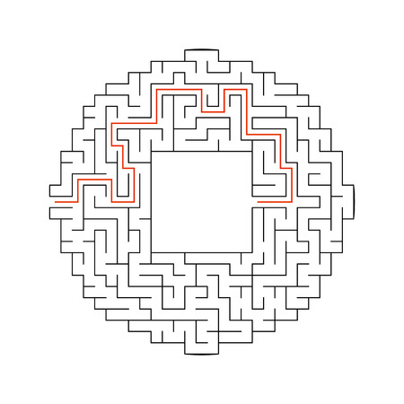 Abstact laberinto. Juego para niños. Puzzle para niños. Enigma del laberinto. Ilustración de vector.