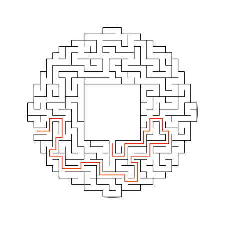 Abstact labyrinth. Game for kids. Puzzle for children. Maze conundrum. Vector illustration. Stock Vector - 124821155