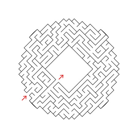 Abstact labyrinth. Game for kids. Puzzle for children. Maze conundrum. Vector illustration. Stock Vector - 124821157
