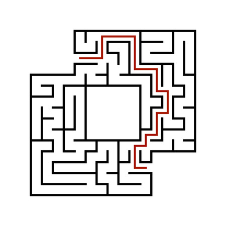 Abstact labyrinth. Game for kids. Puzzle for children. Maze conundrum. Vector illustration. Stock Vector - 124821162