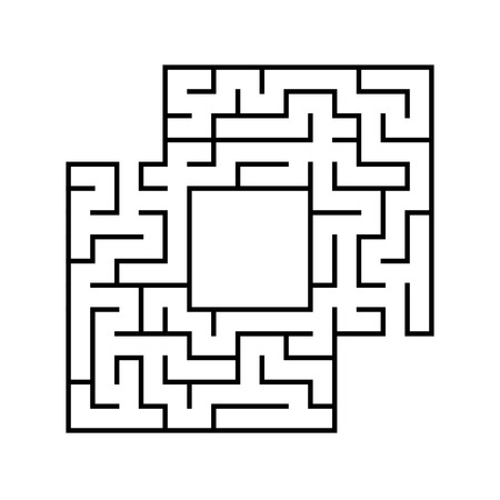 Abstact labyrinth. Game for kids. Puzzle for children. Maze conundrum. Vector illustration. Stock Vector - 124821164