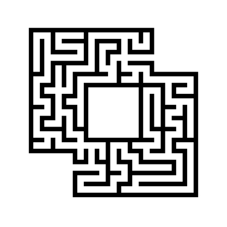 Abstact labyrinth. Game for kids. Puzzle for children. Maze conundrum. Vector illustration. Stock Vector - 124821166