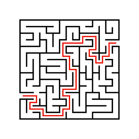 Abstact labyrinth. Game for kids. Puzzle for children. Maze conundrum. Vector illustration. Stock Vector - 124821171