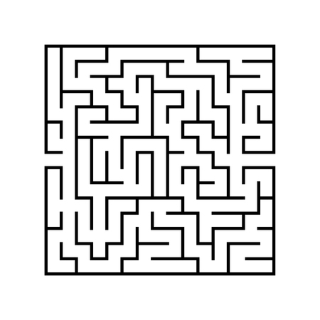 Abstact labyrinth. Game for kids. Puzzle for children. Maze conundrum. Vector illustration. Stock Vector - 124821173