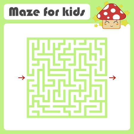 Maze. Game for kids. Funny labyrinth. Education developing worksheet. Activity page. Puzzle for children. Cute cartoon style. Riddle for preschool. Logical conundrum. Color vector illustration Stock Vector - 124821177