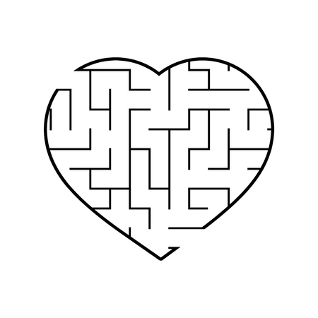 Abstact labyrinth. Game for kids. Puzzle for children. Maze conundrum. Vector illustration. Stock Vector - 124821181