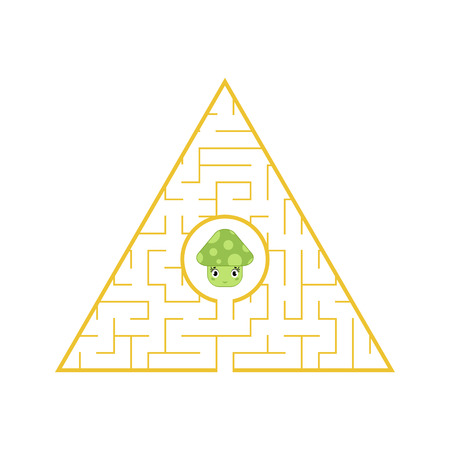 Funny maze. Game for kids. Puzzle for children. Cartoon style. Labyrinth conundrum. Color vector illustration. The development of logical and spatial thinking Stock Vector - 124821192