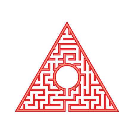 Abstact labyrinth. Game for kids. Puzzle for children. Maze conundrum. Color vector illustration