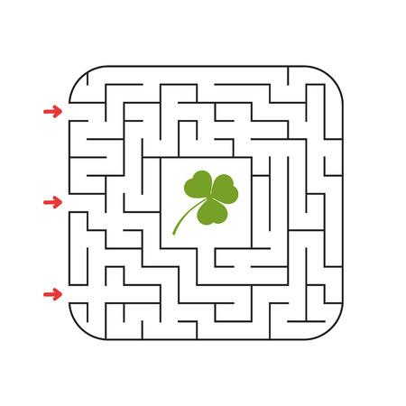 Abstraktes Labyrinth. Spiel für Kinder. Rätsel für Kinder. Labyrinth Rätsel. Vektor-Illustration Vektorgrafik