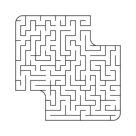 Abstact labyrinth. Educational game for kids. Puzzle for children. Maze conundrum. Find the right path. Vector illustration