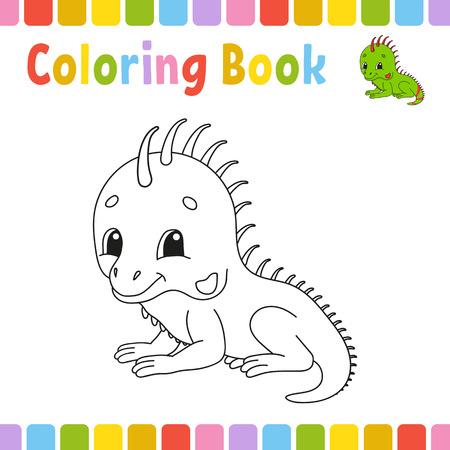 Pages de livre de coloriage pour les enfants. Illustration vectorielle de dessin animé mignon