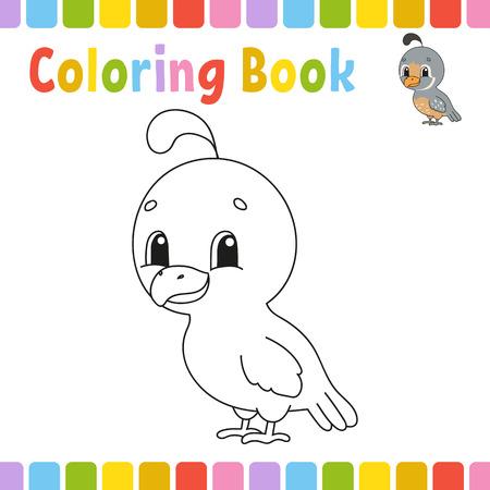 Książki do kolorowania dla dzieci. Ilustracja wektorowa kreskówka Ilustracje wektorowe