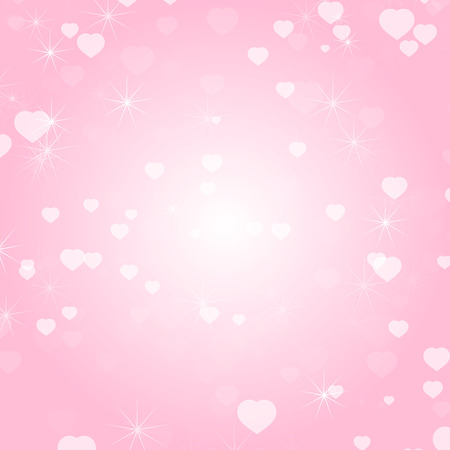 Romantic colored abstract background with hearts of different sizes. Simple flat vector illustration Vectores