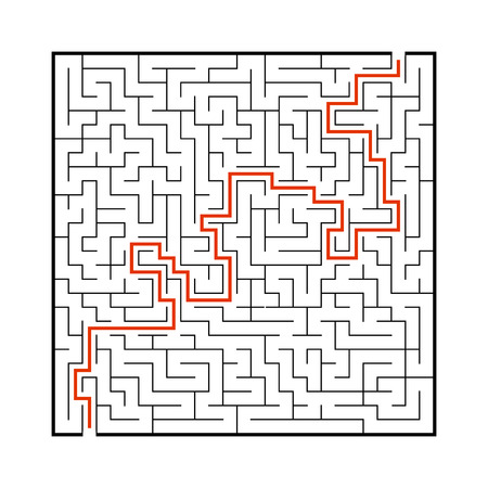 Difficult big maze. Game for kids and adults. Puzzle for children. Labyrinth conundrum. Find the right path. Flat vector illustration 版權商用圖片 - 126726583