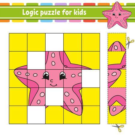 Logic puzzle for kids. Education developing worksheet. Learning game for children. Activity page. For toddler. Riddle for preschool. Simple flat isolated vector illustration in cute cartoon style.