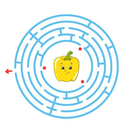 Maze. Game for kids. Funny labyrinth. Education developing worksheet. Activity page. Puzzle for children. Cute cartoon style. Riddle for preschool. Logical conundrum. Color vector illustration. Reklamní fotografie - 126726788