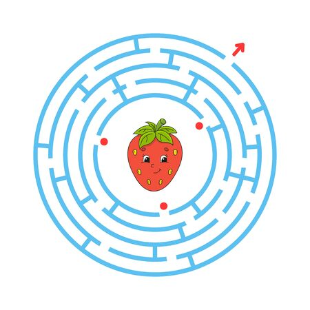 Maze. Game for kids. Funny labyrinth. Education developing worksheet. Activity page. Puzzle for children. Cute cartoon style. Riddle for preschool. Logical conundrum. Color vector illustration. Reklamní fotografie - 126726789