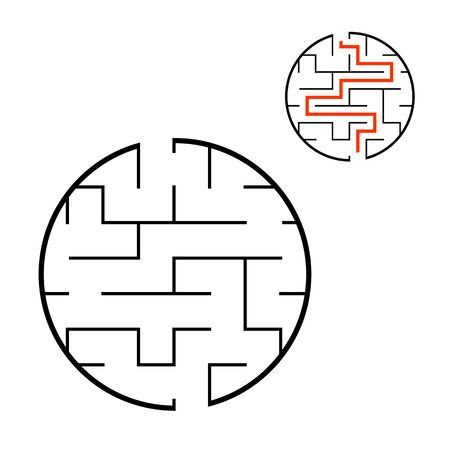 Abstact labyrinth. Educational game for kids. Puzzle for children. Maze conundrum. Find the right path. Vector illustration. Reklamní fotografie - 126726822