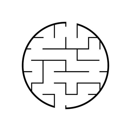 Abstact labyrinth. Educational game for kids. Puzzle for children. Maze conundrum. Find the right path. Vector illustration. Reklamní fotografie - 126726823
