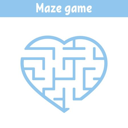 Maze. Game for kids. Funny labyrinth. Education developing worksheet. Activity page. Puzzle for children. Cute cartoon style. Riddle for preschool. Logical conundrum. Color vector illustration. Reklamní fotografie - 126726857