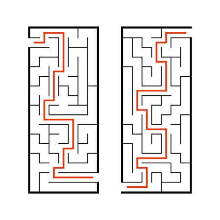 A set of mazes. Game for kids. Puzzle for children. Labyrinth conundrum. Find the right path. Vector illustration. Reklamní fotografie - 126726860