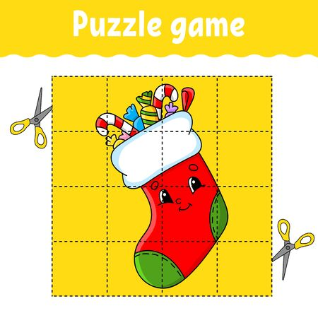 Puzzle game for kids. Education developing worksheet. Learning game for children. Activity page. For toddler. Riddle for preschool. Simple flat isolated vector illustration in cute cartoon style.