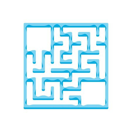 Abstact labyrinth. Game for kids. Puzzle for children. Maze conundrum. Find the right path. Color vector illustration. Ilustração