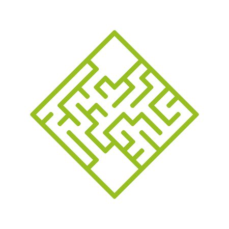 Abstact labyrinth. Game for kids. Puzzle for children. Maze conundrum. Find the right path. Color vector illustration. Vecteurs