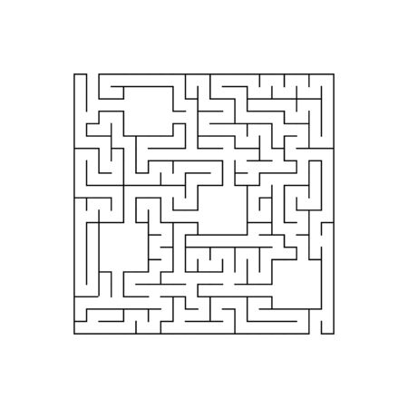 Easy maze. Game for kids. Puzzle for children. Labyrinth conundrum. Find the right path. Vector illustration. Çizim