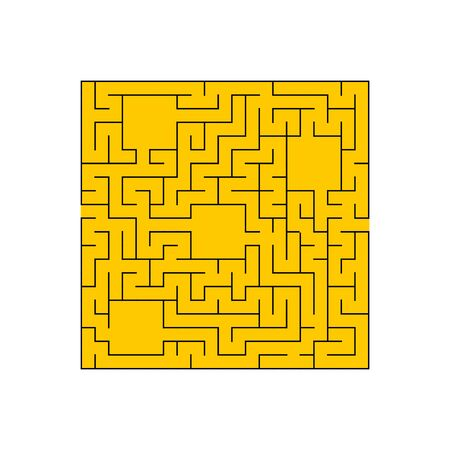 Abstact labyrinth. Game for kids. Puzzle for children. Maze conundrum. Find the right path. Color vector illustration. Illustration
