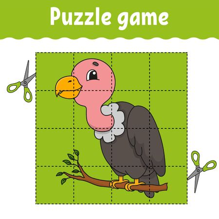 Puzzle game for kids. Education developing worksheet. Learning game for children. Color activity page. For toddler. Riddle for preschool. Illustration in cute cartoon style. Illustration
