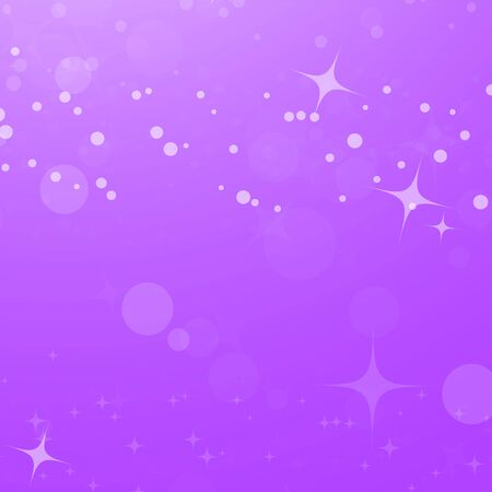 Colorful abstract background with circles and stars. Simple flat illustration. Ilustração