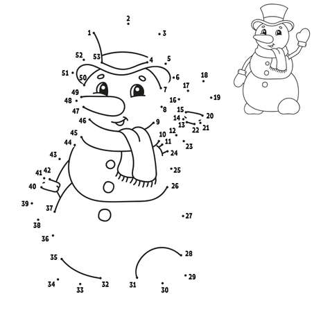 Dot to dot. Draw a line. Handwriting practice. Learning numbers for kids. Education worksheet. Activity coloring page. Cartoon style. With answer.