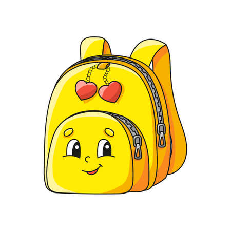 Cute character. Back to school. Colorful vector illustration. Cartoon style. Isolated on white background. Design element. Template for your design, books, stickers, cards, posters, clothes.