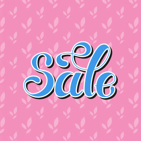 Lettering word. Sale. Hand drawn. Vector illustration. Design element.