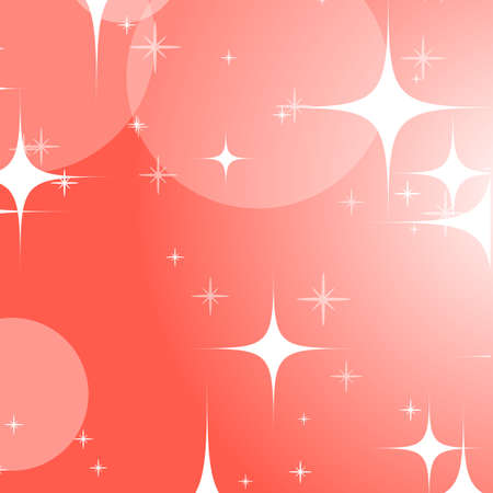 Colorful abstract background with circles and stars. Bright design. Simple flat vector illustration.