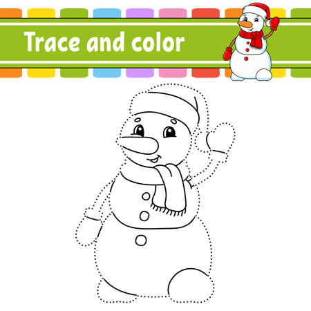 Dot to dot Dot to dot game. Draw a line. For kids. Activity worksheet. Coloring book. With answer. Cartoon character. Vector illustration. Christmas theme.