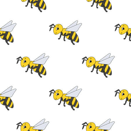 Color seamless pattern. Cartoon style. Bright design. For walpaper, poster, banner. Hand drawn. Vector illustration isolated on white background. Vettoriali
