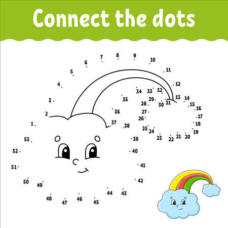 Dot to dot game. St. Patrick's day. Draw a line. For kids. Activity worksheet. Coloring book. With answer. Cartoon character. Vector illustration.