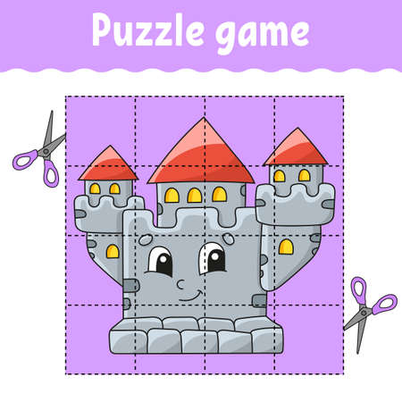 Puzzle game for kids. Education developing worksheet. Learning game for children. Color activity page. For toddler. Riddle for preschool Isolated vector illustration in cartoon style.