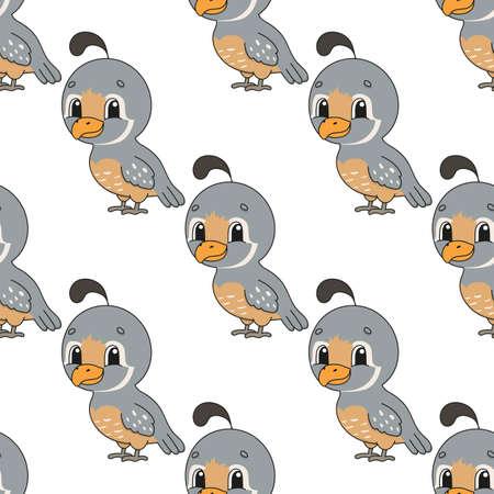 Colored seamless pattern. Cartoon style. Hand drawn. Vector illustration isolated on white background. For walpaper, poster, banner. Ilustração
