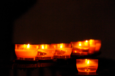 candles in the church photo