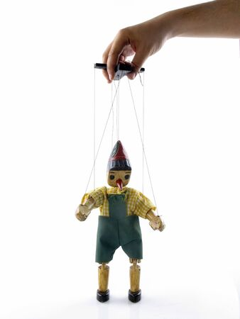 puppet on the string with hand Stock Photo - 7447285